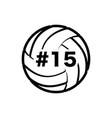 volleyball with number vector image vector image