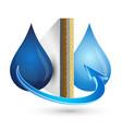 water filtration design vector image vector image
