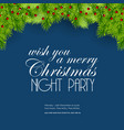 wish you a merry christmas night party background vector image vector image