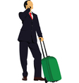 travelling business vector image