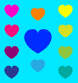 Color heart symbol on background vector image