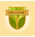 logo for environmental goods wood products Organic vector image