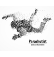 abstraction parachutist fly vector image