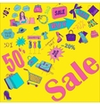 Hand draw sketch colored sale vector image