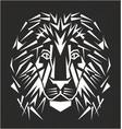 line art lion tattoo vector image