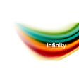 3d fluid colors wave background flowing vector image