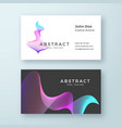 abstract blend wavy symbol business card vector image