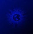 Abstract blue modern globe wave line background vector image