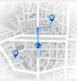 abstract city map gps and navigation concept vector image