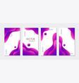 abstract liquid purple vertical stories templates vector image