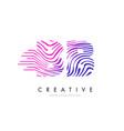 bb b b zebra lines letter logo design