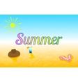 beach summer accessories vector image