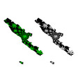 bengkulu subdivisions indonesia provinces of vector image vector image