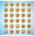 Big set of round buttons cartoon computer game vector image vector image