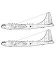 boeing b-50 superfortress vector image vector image
