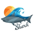 Bright or print with shark for t vector image