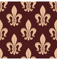 Brown and beige royal seamless pattern vector image vector image