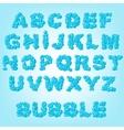 bubble abstract alphabet vector image vector image