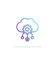 cloud storage settings line icon vector image vector image