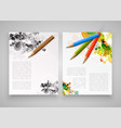 colorful realistic templates for advertising or vector image vector image
