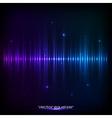 Dark blue shining equalizer vector image vector image