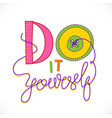 do it yourself logo vector image vector image