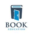 educational book logo design vector image
