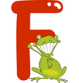 F for frog vector image vector image