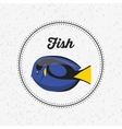 fish animal poster icon vector image vector image