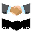 flat and black silhouette handshake vector image