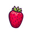 fresh strawberry icon isolated on white vector image