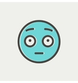 Frightened face thin line icon vector image vector image