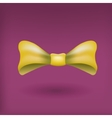 Glamorous 3d bow tie Yellow on violet vector image