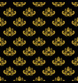 golden vintage damask decor seamless pattern vector image vector image