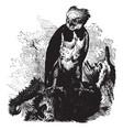 harpy eagle vintage vector image vector image