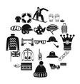 headdress icons set simple style vector image vector image