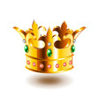 heraldic crown isolated on white vector image vector image