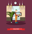 home delivery concept in flat vector image vector image