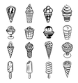 Ice cream icons set simple style vector image vector image