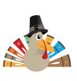 isolated comic turkey vector image vector image