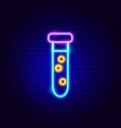 laboratory flask neon sign vector image vector image