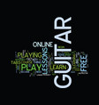 learn how to play guitar free text background vector image vector image