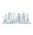 line modern urban big city panorama outline vector image vector image
