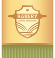 logo for a bakery with a picture of a rolling pin vector image vector image