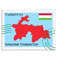 mail to-from Tajikistan vector image vector image