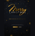merry christmas and happy new year dark vector image vector image