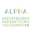 modern stylized font alphebet vector image vector image