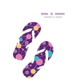 molecular structure flip flops silhouettes pattern vector image vector image