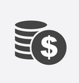 money silhouette icon on white background coins vector image vector image