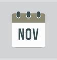 november - icon day calendar autumn month vector image vector image
